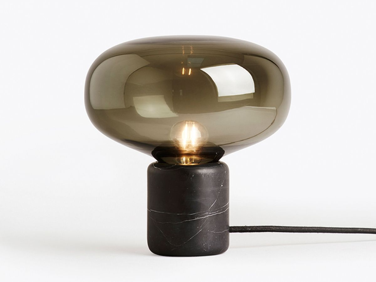 New works karl johan table lamp black marquina marble marbles new works karl johan table lamp black marquina marble geotapseo Gallery