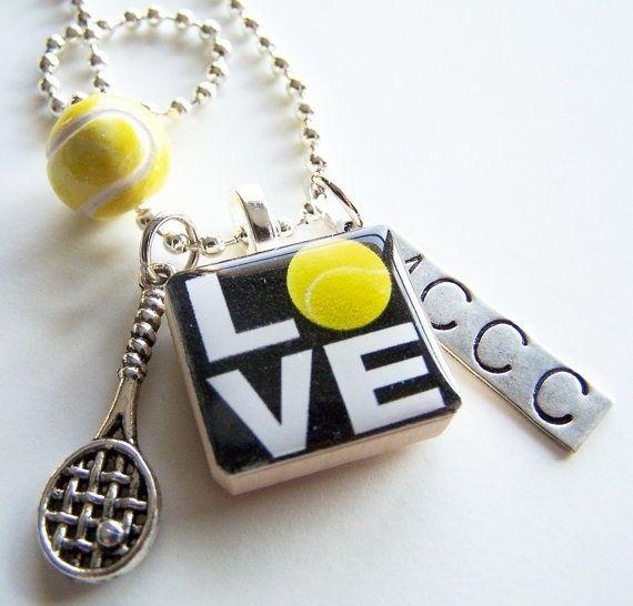 a tennis key chain