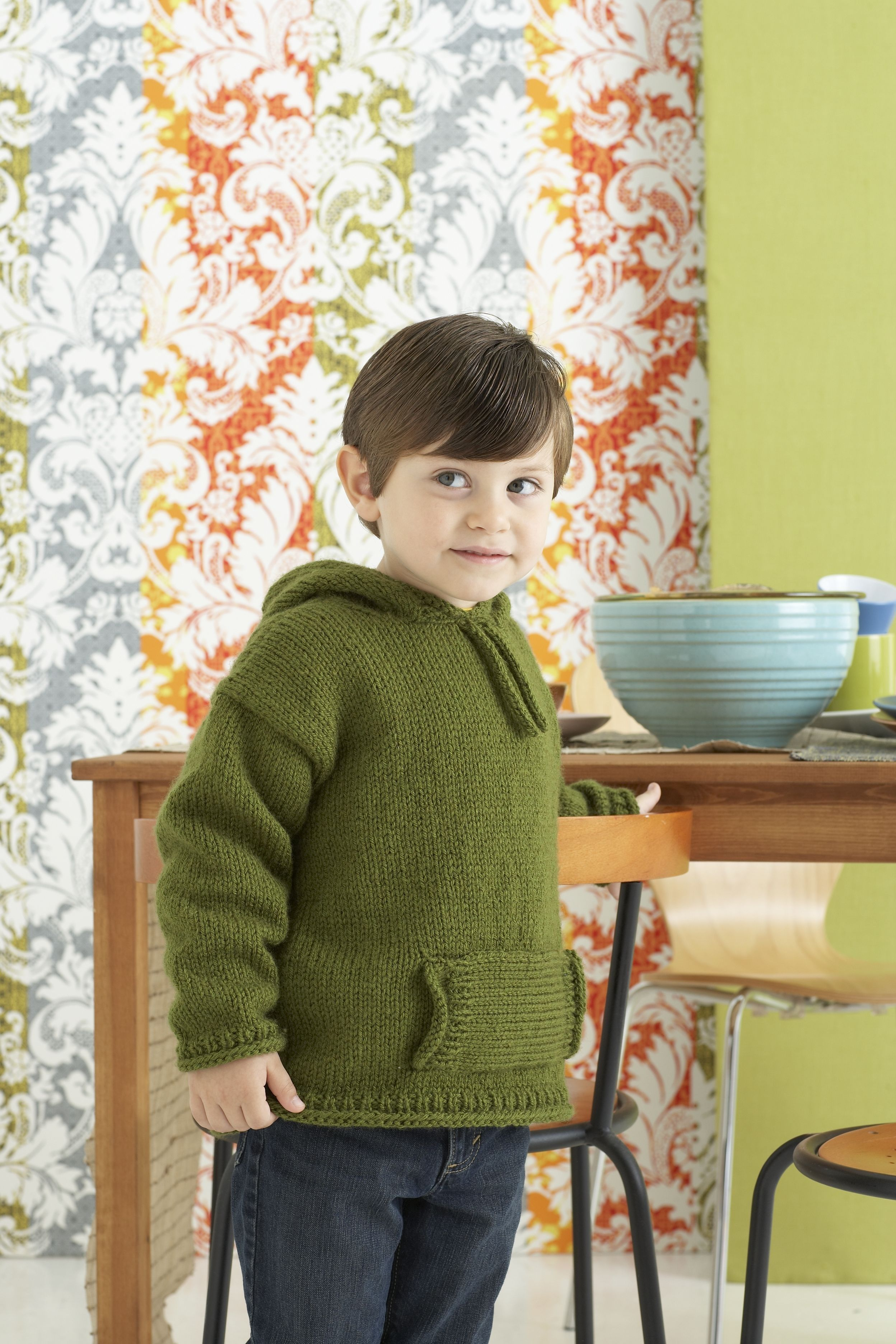 Kids to Adult Hoodie Pattern (Knit)   knitting for kids   Pinterest ...
