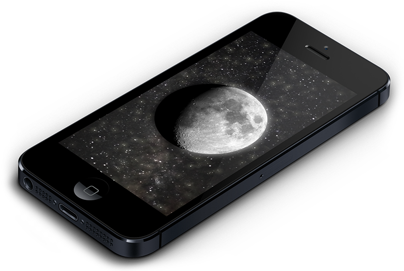 MOON for iOS current moon phase app for iPhone and iPad