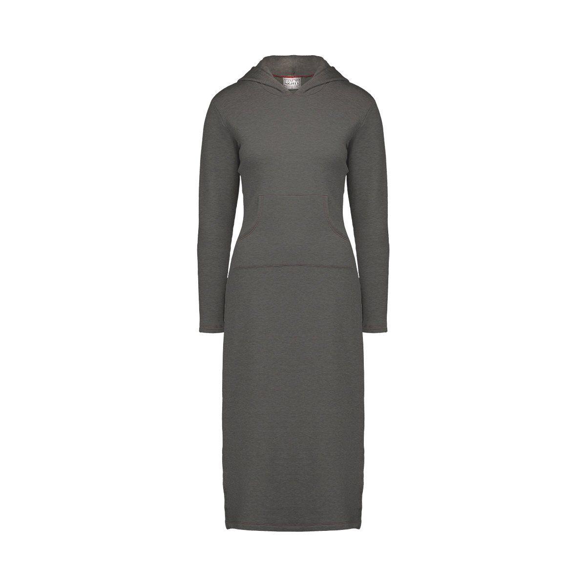 Julie Lu Fleece Hooded Nightgown – Charcoal Grey / 4