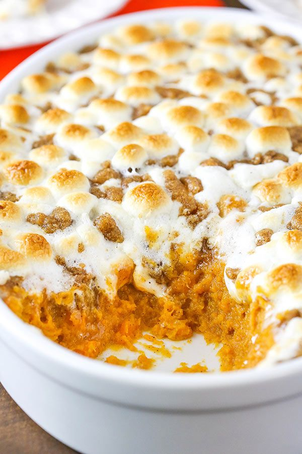 Loaded Sweet Potato Casserole #thanksgivingrecipes