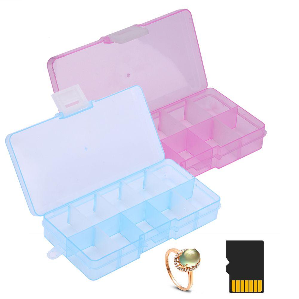 10 Grids Plastic Storage Box Adjustable Jewelry Storage Box Case Craft Organizer Beads Container for Designer  sc 1 st  Pinterest & 10 Grids Plastic Storage Box Adjustable Jewelry Storage Box Case ...