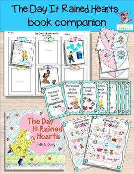 **NEWLY UPDATED** The Day It Rained Hearts:  Book Companion Activities