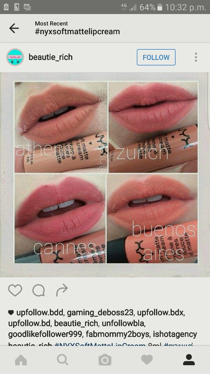 Cannes Zurich Athens Buches Aires Nyx Soft Matte Creams Nyx