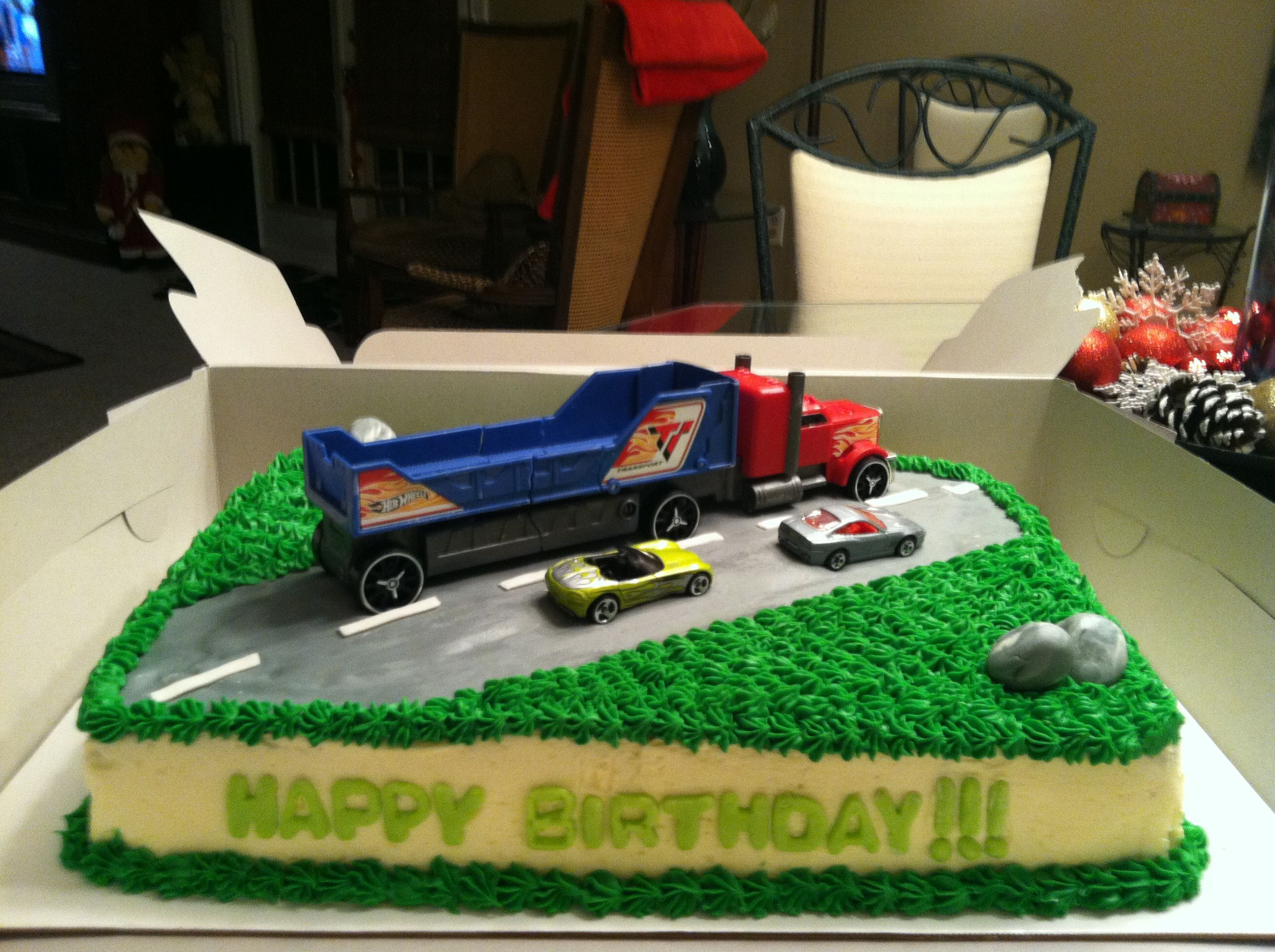Driving Lorry Birthday Cake