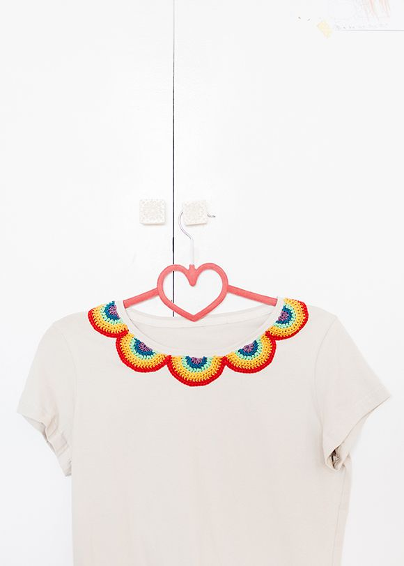 El Club del Patrón: cuello arco iris de ganchillo | DIY Fashion ...