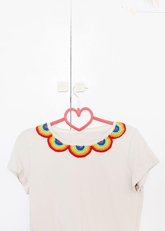El Club del Patrón: cuello arco iris de ganchillo | Crochet ...