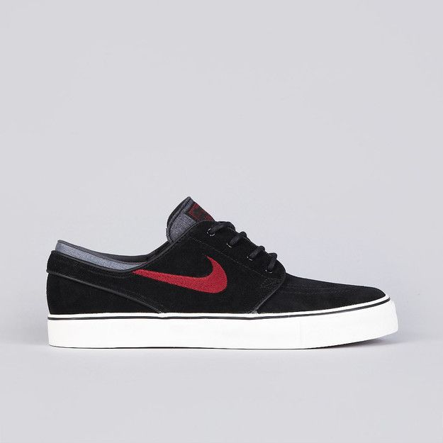 Nike SB Zoom Stefan Janoski Leather Unisex Skateboarding Shoes Black/Wolf Grey/White 725
