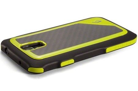 Element Case Atom S4, Black, Lime, Lime Corners and Carbon Fiber