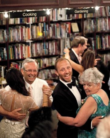 I love this!  The bride and groom had their reception at an organization that helps hiv research, her passion.  What a wonderful way to support others while having a good time!  Look at non-profits when booking your reception and help the community!