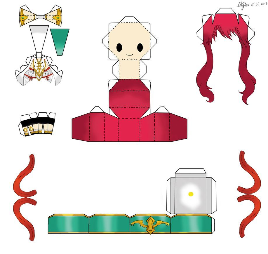 anime papercraft templates | magi the labyrinth of magic papercraft