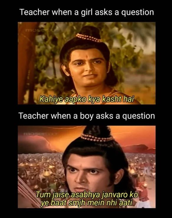 When A Student Asks A Question In Class