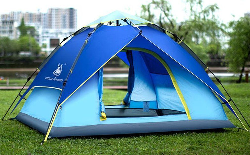 TTYY Hydraulic Automatic Tent Suitable for 3~4 People Outdoor Spring Tour Picnic C&ing Lightweight -- To check out additionally for this product ... & TTYY Hydraulic Automatic Tent Suitable for 3~4 People Outdoor Spring ...