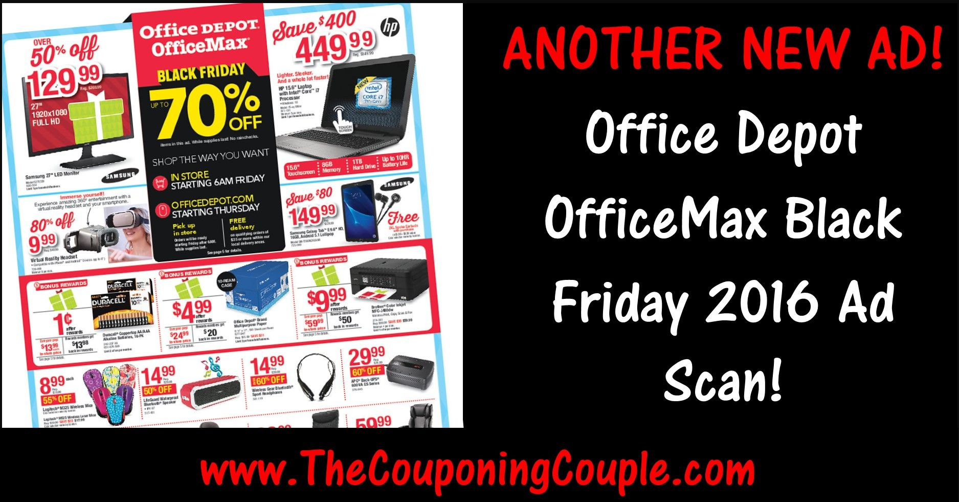 Office Depot OfficeMax Black Friday 2019 Ad Posted