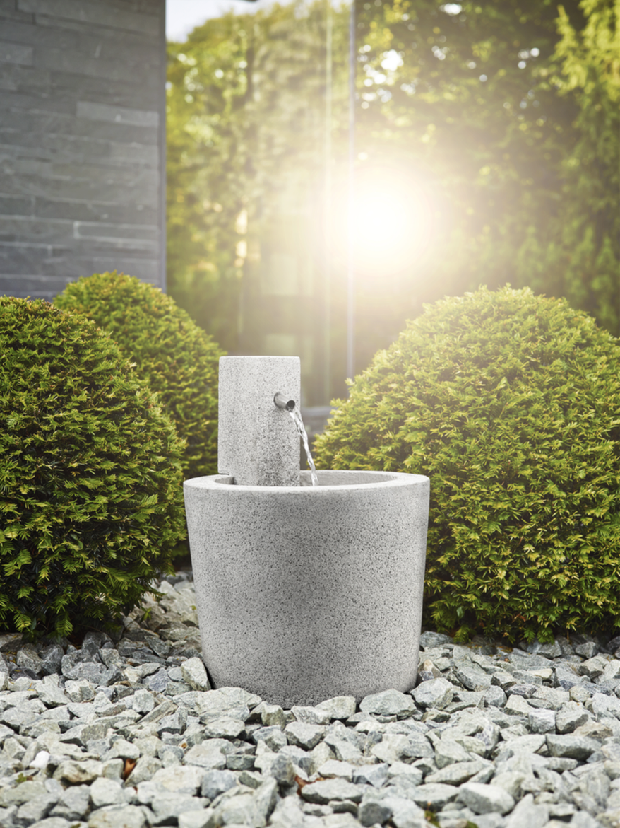 natursteinbrunnen garten, granit - der klassiker für natursteinbrunnen. #esteras #emsa, Design ideen
