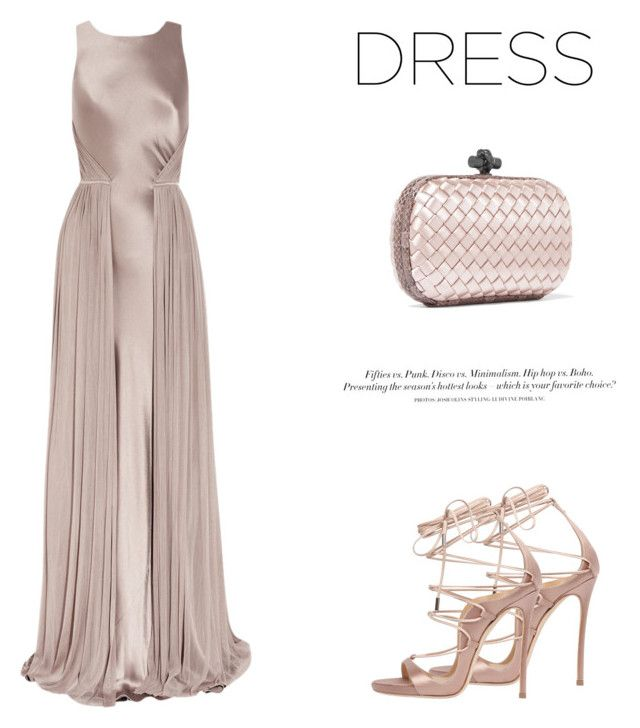 """Silk Dress #151"" by viviannabas ❤ liked on Polyvore featuring Amanda Wakeley, Dsquared2, Bottega Veneta and H&M"