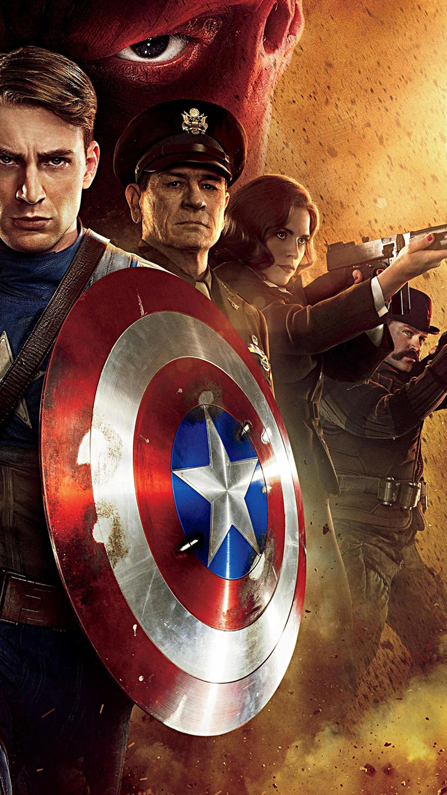 Captain America: The First Avenger (2011) Phone Wallpaper   Moviemania