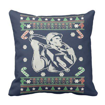 Electrician Merry Christmas Throw Pillow Xmas