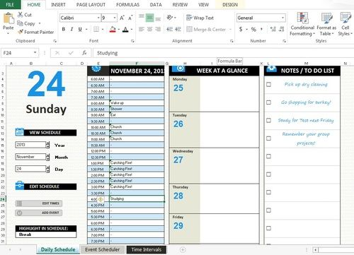How to make a study schedule using Excel ALL KIND OF LISTS - work schedule