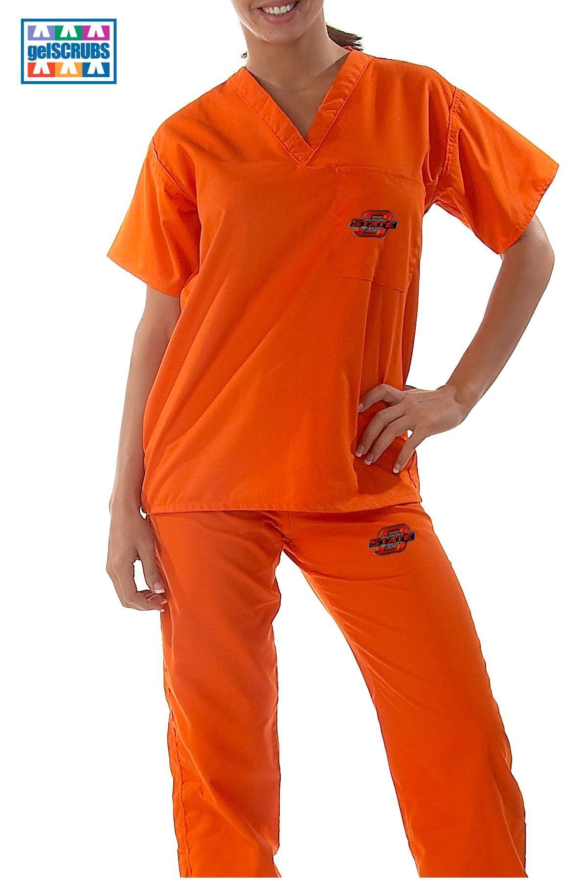 garden ridge scrubs. #oklahoma state cowboys scrub set by gelscrubs in orange or black garden ridge scrubs