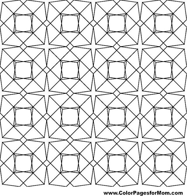 geometric coloring pages for adults printable | Geometric Coloring ...