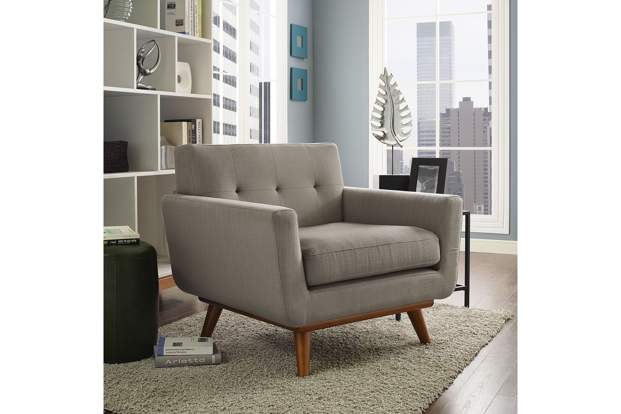 Engage Upholstered Armchair In Granite By Modway Fabric Armchairs Furniture Armchair