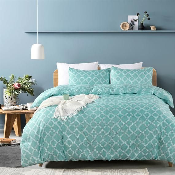 Photo of Geometric Duvet Cover Set Decorative Geometry Bedding Sets Simple Bedding Sets Stylish Bedding Micro