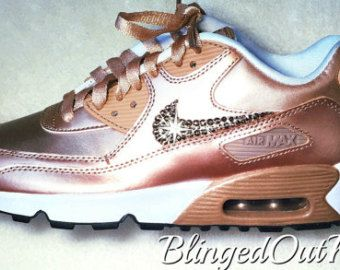 Women s Crystahhled - Blinged Out - Nike Swarovski - Bling Nike Shoes -  Bling Air Max - Rose Gold Shoes - Perfect Gift - Nike Shoes c1ef544a0f