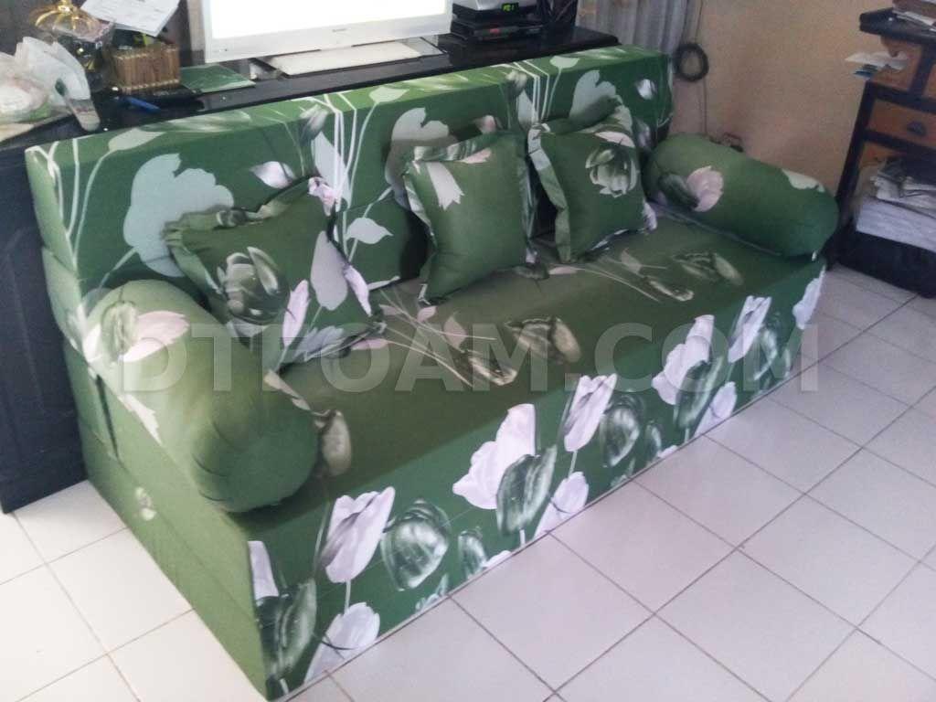 sofa bed kasur busa lipat inoac jakarta cleaners nyc p bunga tulip hijau bagus empuk murah pilihan