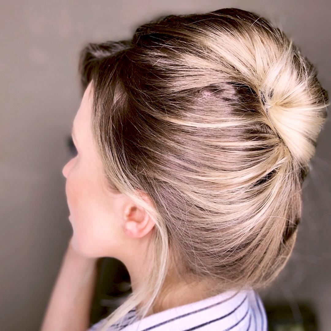 Diy Elegant French Twist In No Time W Pony O Video Easy Hair Updos French Twist Hair Medium Hair Styles