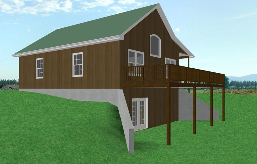 2 Story Walkout Basement With Wraparound Porch Basement House Plans Ranch House Floor Plans Simple Ranch House Plans