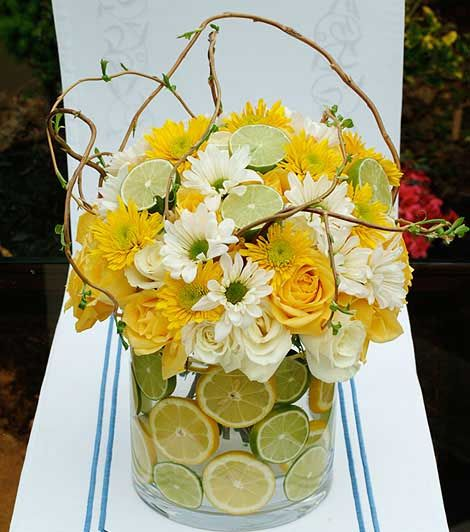 Yellow Wedding Flowers Ideas: Yellow Flower, Eco Craft Ideas For Floral Table Decoration