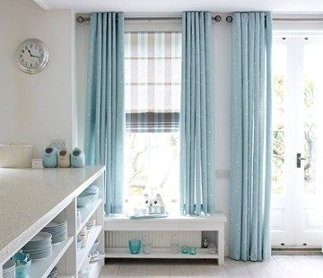 Curtains At Ceiling Height With Single Window Next To Door