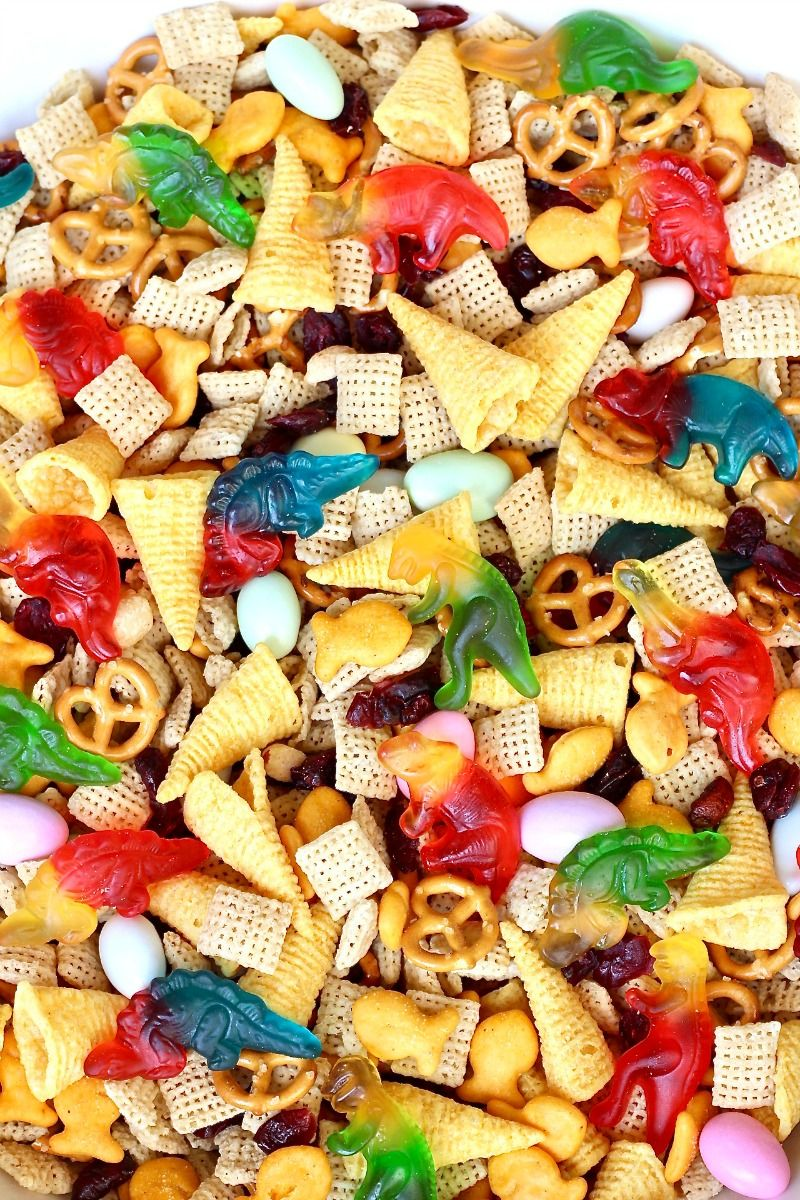 Dino-Mite Snack Mix + Book Review: We Don't Eat Ou