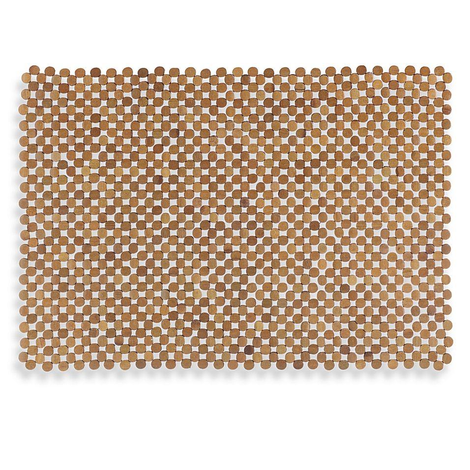 Mosaic Bamboo Mahogany Tub Mat Tub Mat Bamboo Tub
