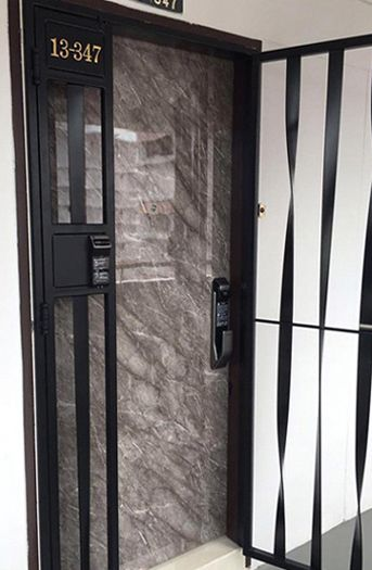 Hdb Fire Rated Main Door Factory Selling Keywe Epic And Samung Digital Lock For Veneer And Laminate Hdb Door Hdb Bedroom Door Toilet Door And Gate At Lowes Grill