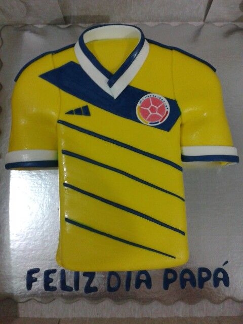54a15019b38f7 Torta camisa de la seleccion de colombia