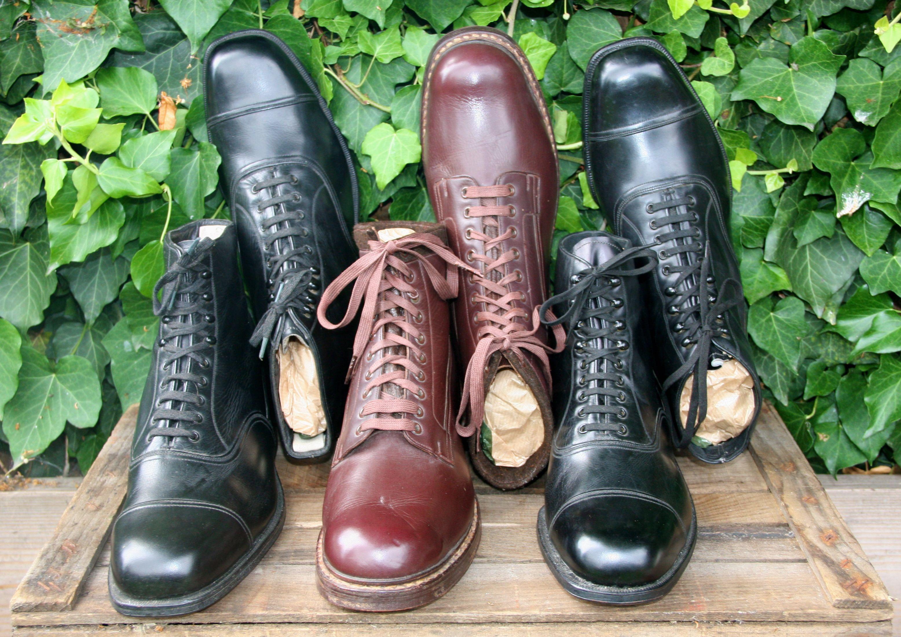 vintage men's patent leather shoe