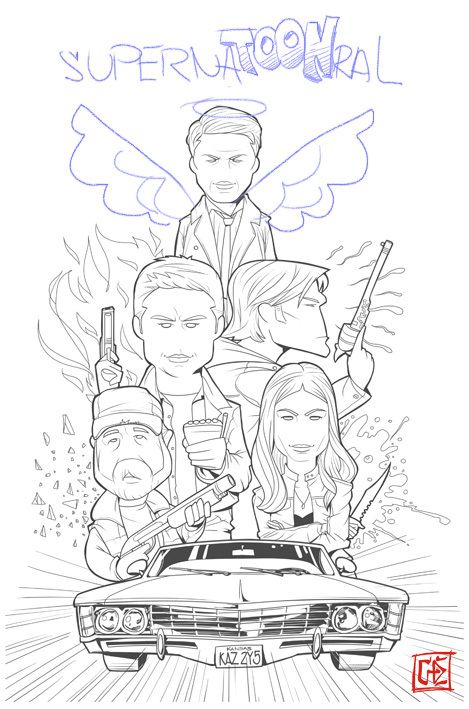 Spn Everybody In Baby Jpg 469 709 With Images Coloring Books