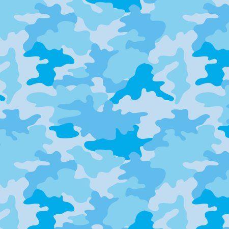 Best Bright Camo Blue Anti Pill Poly Fleece Fabric By The Yard 400 x 300