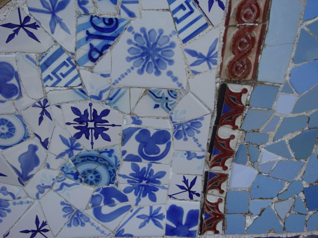 Park Guell Gaudi Barcelona Hand Painted Tile Mosaic