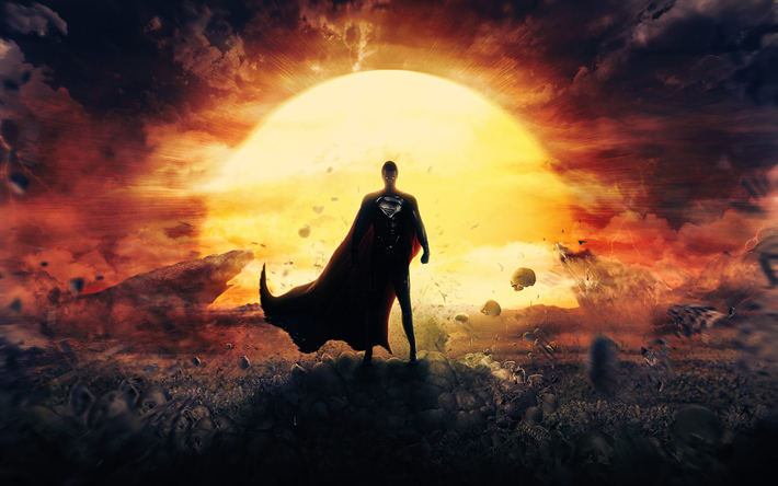 Lataa kuva Teräsmies, art, supersankareita, myrsky, kirkas aurinko