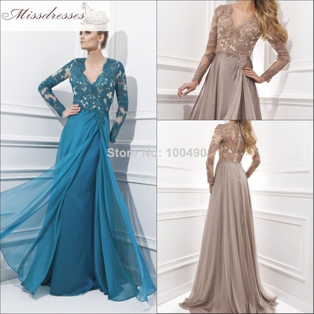 Long sleeve maxi occasion dress