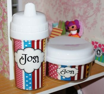 Ribbons Sippy Cup....cute cup and snack cotainer