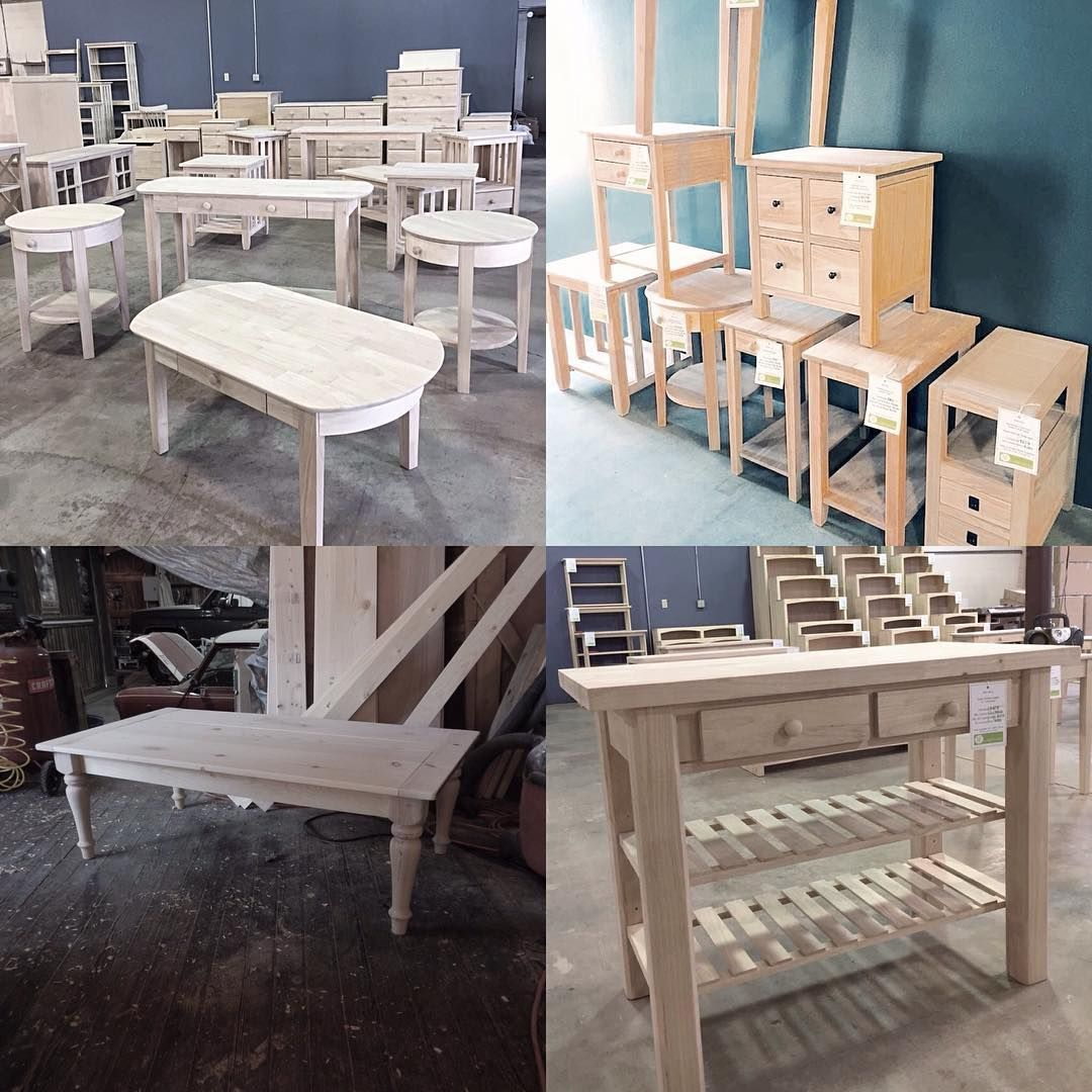 Huge selection of unpainted furniture and we finish it any way you like. #torontofurniture #liveedgetablestotonto #torontounpaintedfurniture