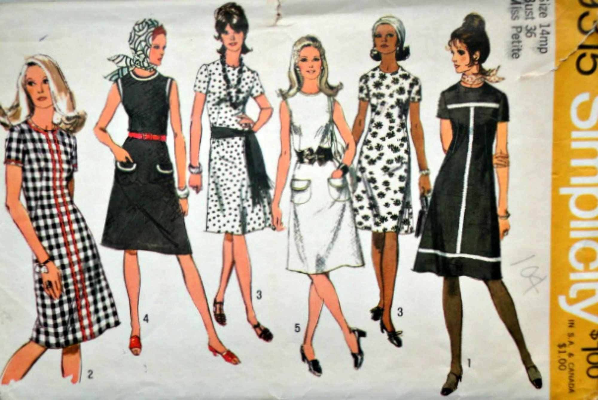 70 S Simplicity 9315 Misses Petite Shift Dress Sewing Etsy Sewing Dresses Girl Dress Patterns Skirt Patterns Sewing [ 1338 x 2000 Pixel ]