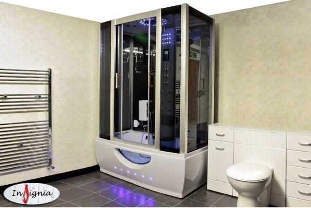 Cabina dus cu hidromasaj si sauna umeda model Brampton cromoterapie