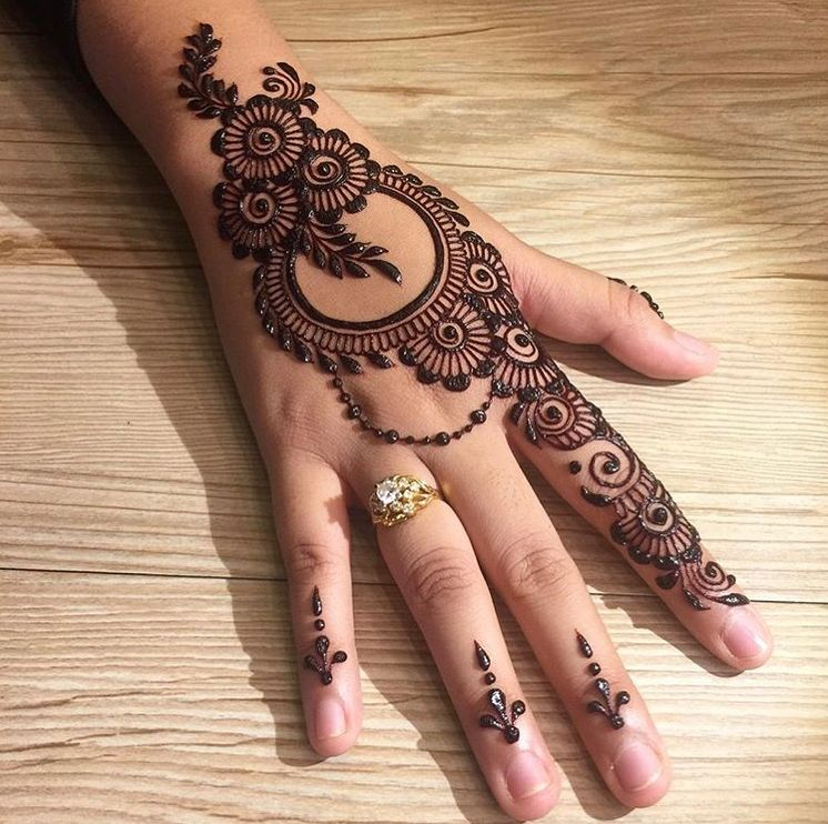 Image may contain one or more people and closeup mehndi designs for hands also simple elegant look henna pinterest rh