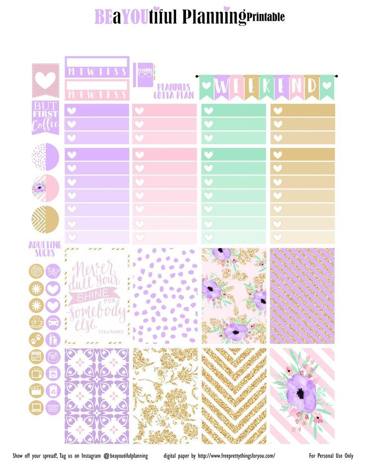 Free Printable Shine Planner Stickers From Beayoutiful Planning